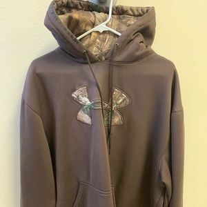 Under Armour hoodie with camp emblem and hood